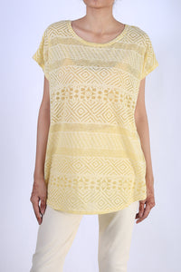 Self Print Knit Top