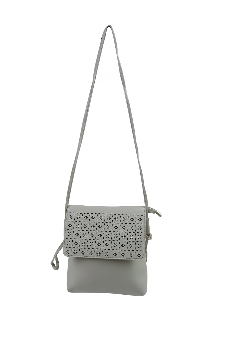 Leather Mesh Sling Bag