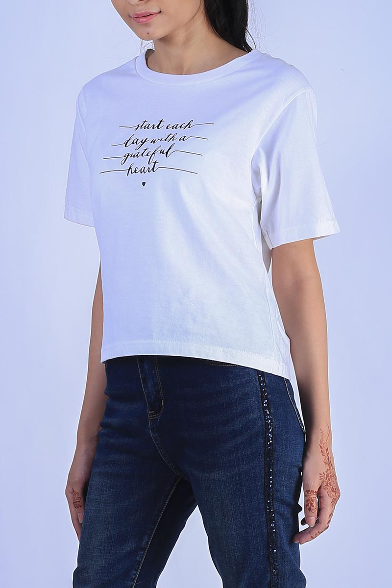 Start Each Day Basic T shirt