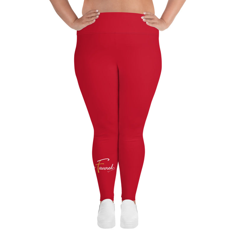 HF Plus Size Leggings red