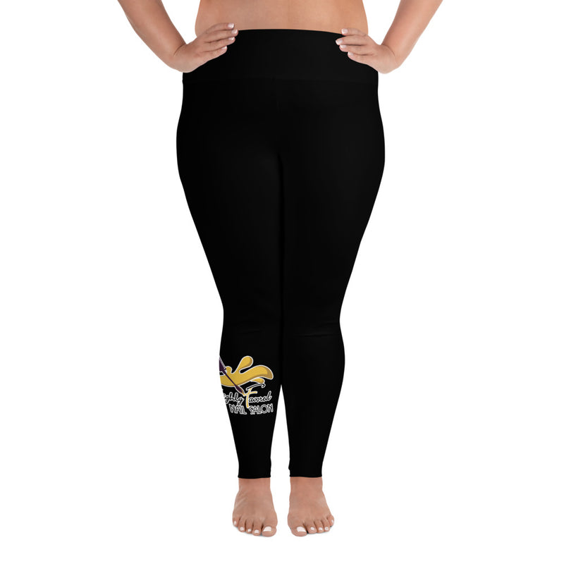 All-Over Print Plus Size Leggings blk