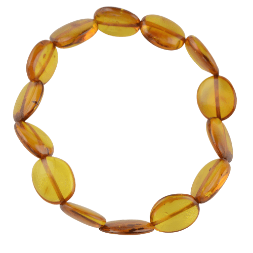Polished olive Amber bracelet beads PUPA14