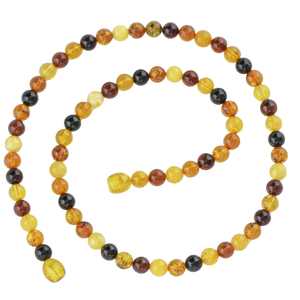 6 mm Baltic amber necklace