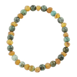 African Turquoise Amber bracelet