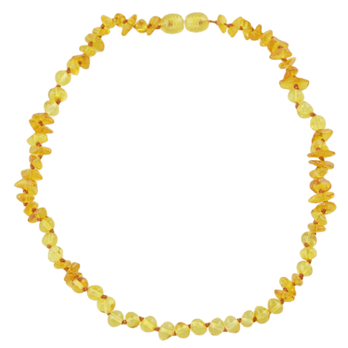 Amber Teething necklace with chips beads amberlila-shop.myshopify.com