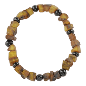 Amber bracelet with Raw Polished amber