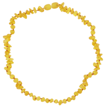 Load image into Gallery viewer, Amber necklace for babies with chips beads amberlila-shop.myshopify.com