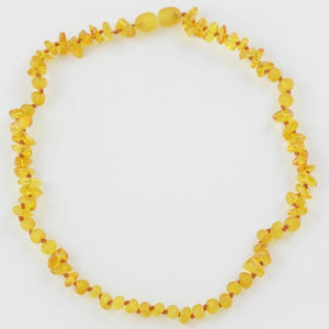 Amber necklace for babies with chips beads amberlila-shop.myshopify.com