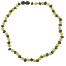 Load image into Gallery viewer, Amber necklace for kids or babies 34 cm amberlila-shop.myshopify.com