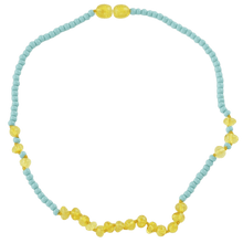 Load image into Gallery viewer, Amber necklace for kids or babies with toho beads amberlila-shop.myshopify.com