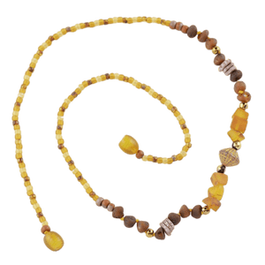 Amber necklace with seed beads amberlila-shop.myshopify.com
