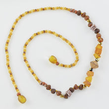 Load image into Gallery viewer, Amber necklace with seed beads amberlila-shop.myshopify.com