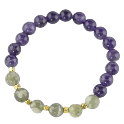 Amethyst Jade Crystal details Bracelet for women or girls amberlila-shop.myshopify.com