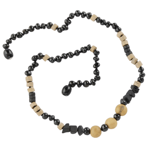 Baltic Amber necklace with Acai beads amberlila-shop.myshopify.com