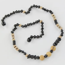 Load image into Gallery viewer, Baltic Amber necklace with Acai beads amberlila-shop.myshopify.com