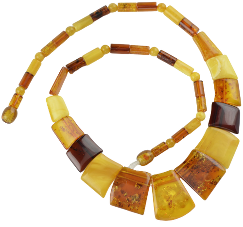 Baltic amber kolje necklace