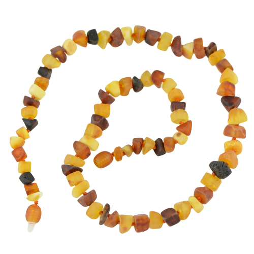 Baltic amber necklace  raw beads KLK07