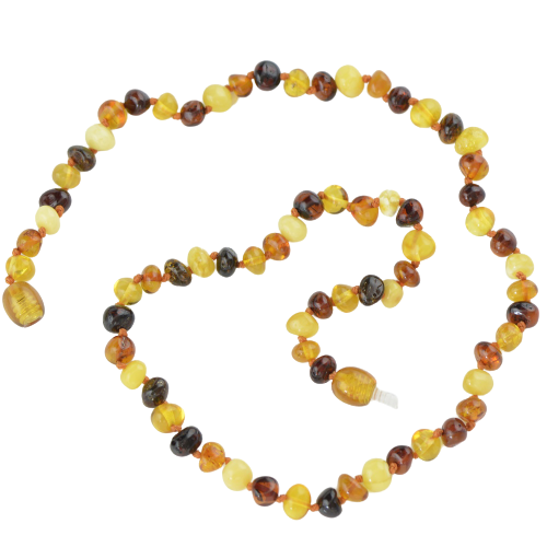 Baroque Multicolor Baltic amber necklace