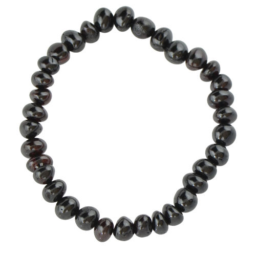 Black Genuine amber bracelet