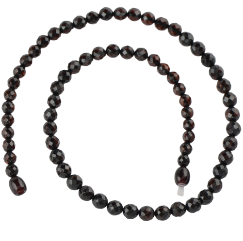 Cherry Faceted Baltic amber necklace