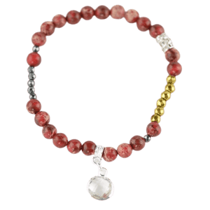Gemstone beads bracelet for women amberlila-shop.myshopify.com