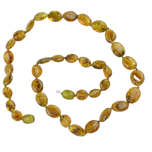 Green Olive Amber necklace