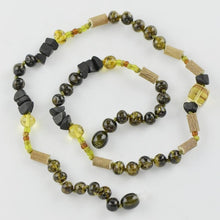 Load image into Gallery viewer, Green amber necklace with Hazelwood amberlila-shop.myshopify.com