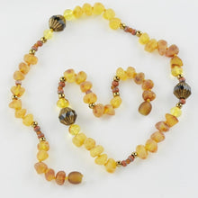 Load image into Gallery viewer, Amber necklace with raw amber beads amberlila-shop.myshopify.com