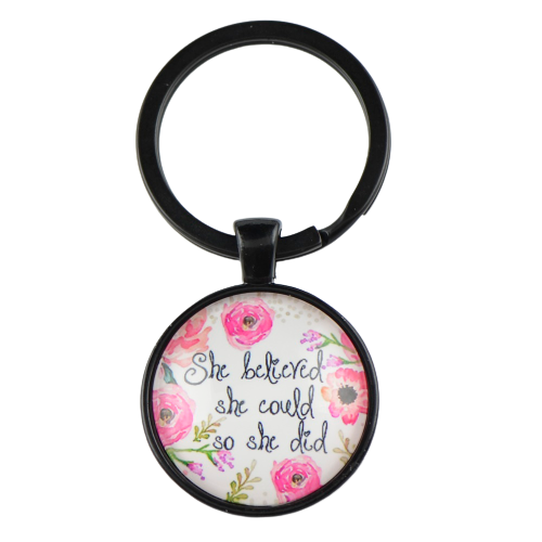 Motivational quotes pendant for keys KM34