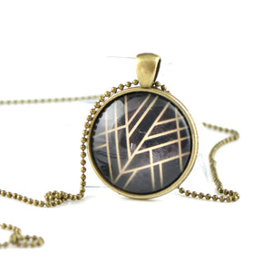 Travelers gift idea Glass necklace PP06