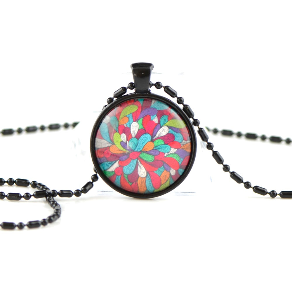 Rainbow pendant necklace LL05