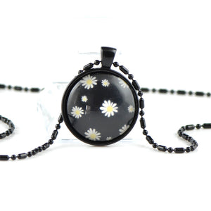 White black pendant necklace TT06