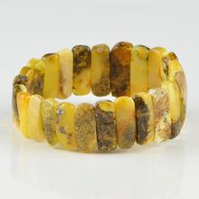 Load image into Gallery viewer, Green yellow Baltic Amber bracelet 7275