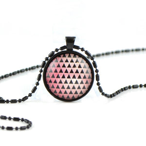 Necklace with glass cabochon BB34