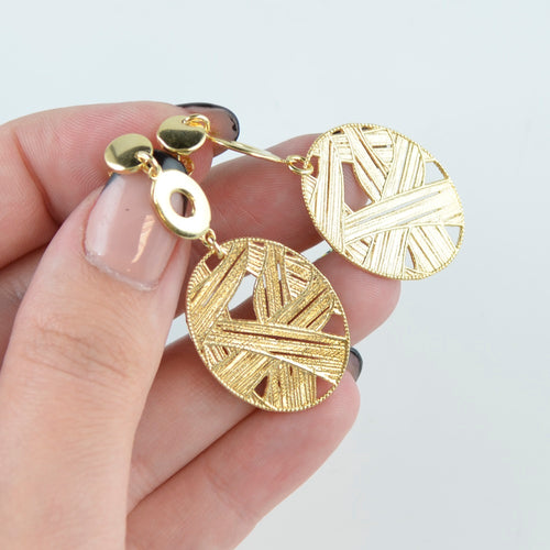 Long gold earrings BV10