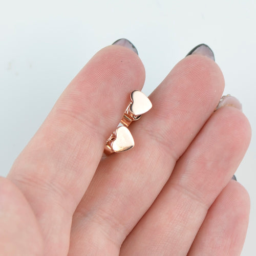 Rose gold heart earrings BV09