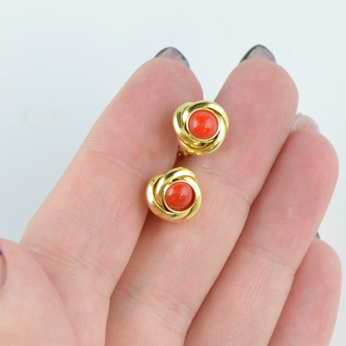 Red Stud earrings for girls BV08