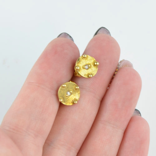 Gold earrings for women BV05