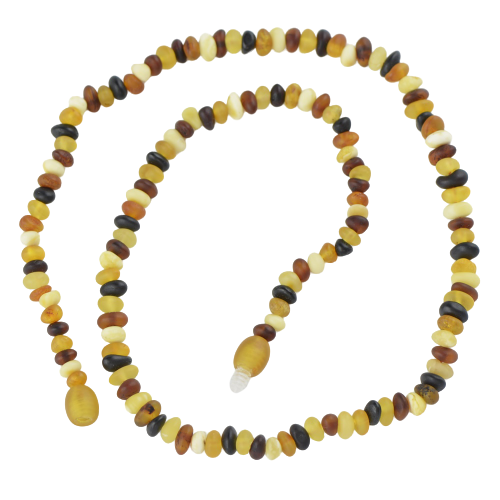 Multicolor Baltic amber raw necklace