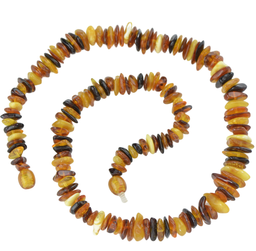 Multicolor chips Baltic amber necklace