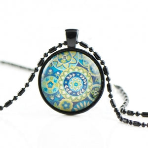Personalized glass necklace HN08
