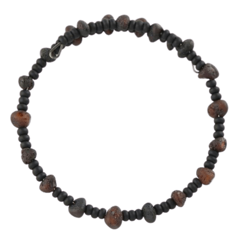 Raw Amber bracelet with Toho beads