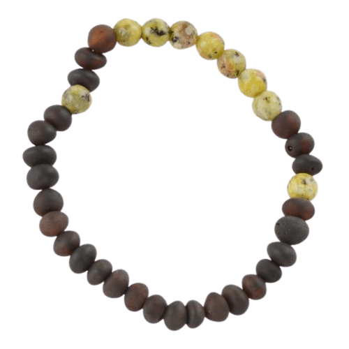 Raw Amber bracelet with cherry amber beads