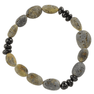 Raw Amber bracelet with olive amber