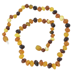 Raw Baltic amber necklace mix beads