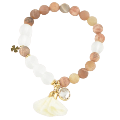 Sunstone bracelet - bracelet with flower amberlila-shop.myshopify.com
