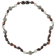 Load image into Gallery viewer, Teething necklace with Agate Jadeite beads amberlila-shop.myshopify.com