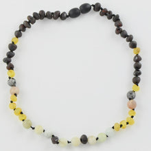 Load image into Gallery viewer, Teething necklace with Amazonite Sunstone amberlila-shop.myshopify.com