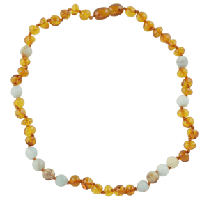 Teething necklace with Amazonite amberlila-shop.myshopify.com