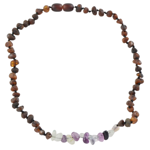Teething necklace with Fluorite amberlila-shop.myshopify.com